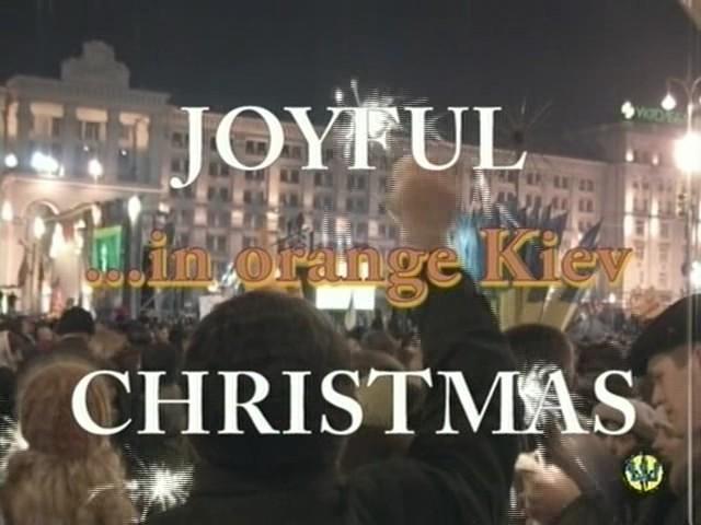 Joyful Christmas In Orange Kiev