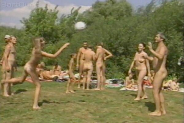 Nudist Nude Family In Nature