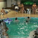 PureNudism Video Family Nudism - KIDS INDOOR DOLPHIN RIDE  純粋ヌーディズムビデオ