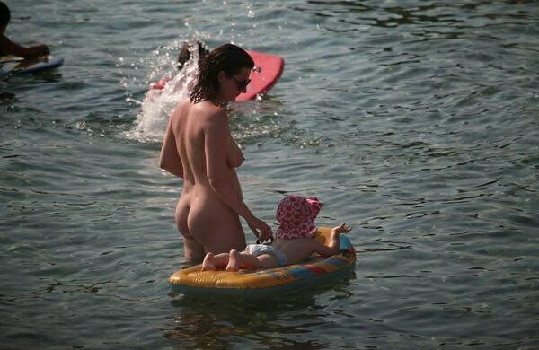 nude beach family pics