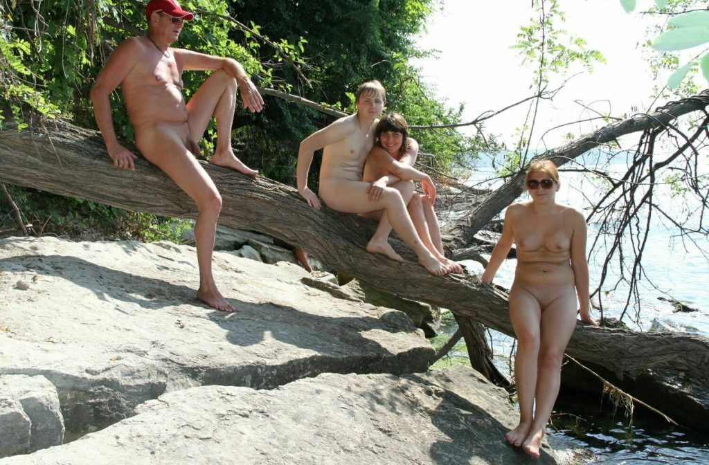 Log Balancing in Park – Naturist Family Events