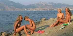 Teenagers nudists celebrate girlfriend's birthday