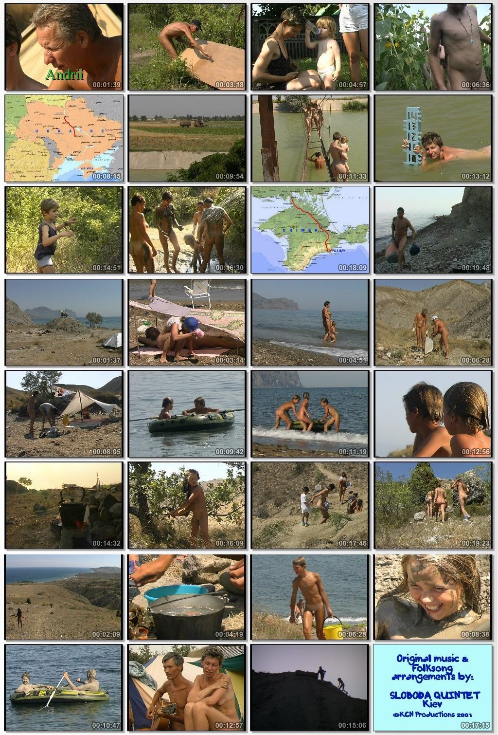 Nudist families trip to Crimea in Fox Bay