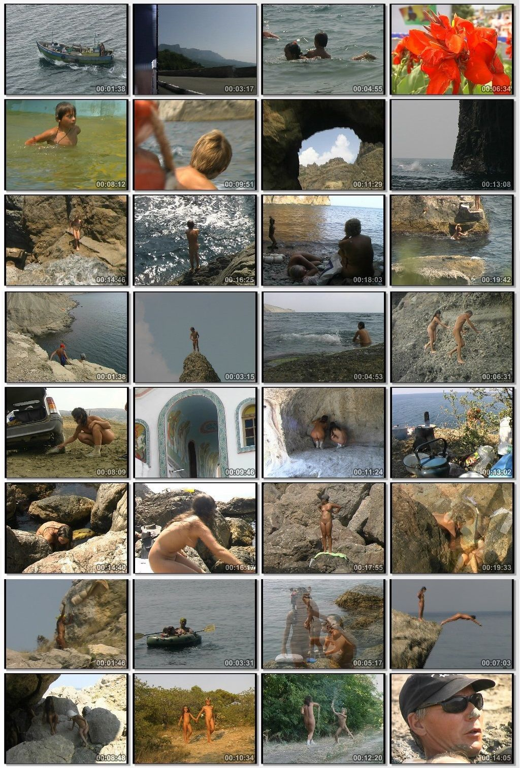Families nudists in Crimea land of sea and mountains