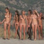 Girls teens naturist in ancient castle