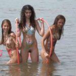 Body art young girls naturists in nudist beach