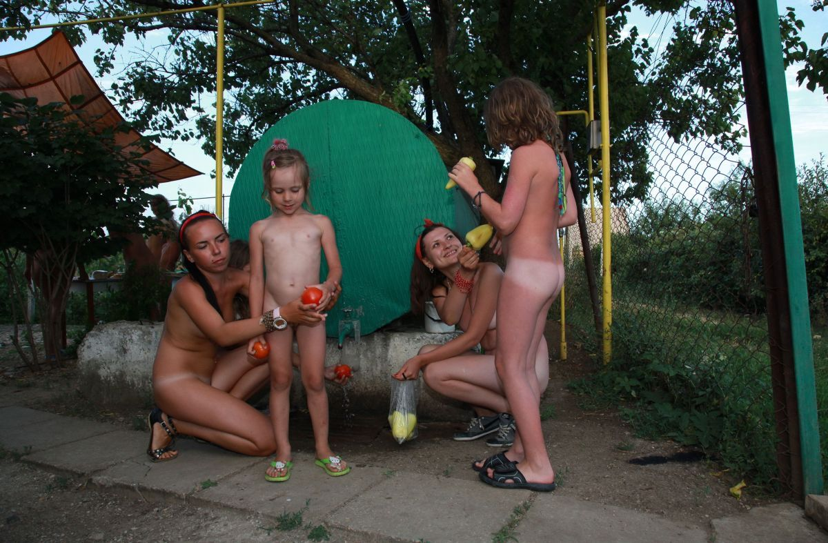 Pure nudism - Watermelon lunch part 6