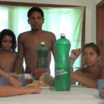 Naturist Family Lunch - Fun Tropical Activity part 4