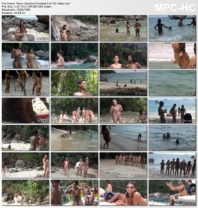 Family Brazil Nudism - Warm Sandbar Paradise Full HD video
