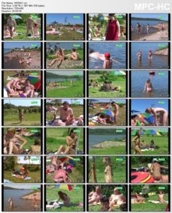 Bathing at gravel-pit - film about naturist freedom