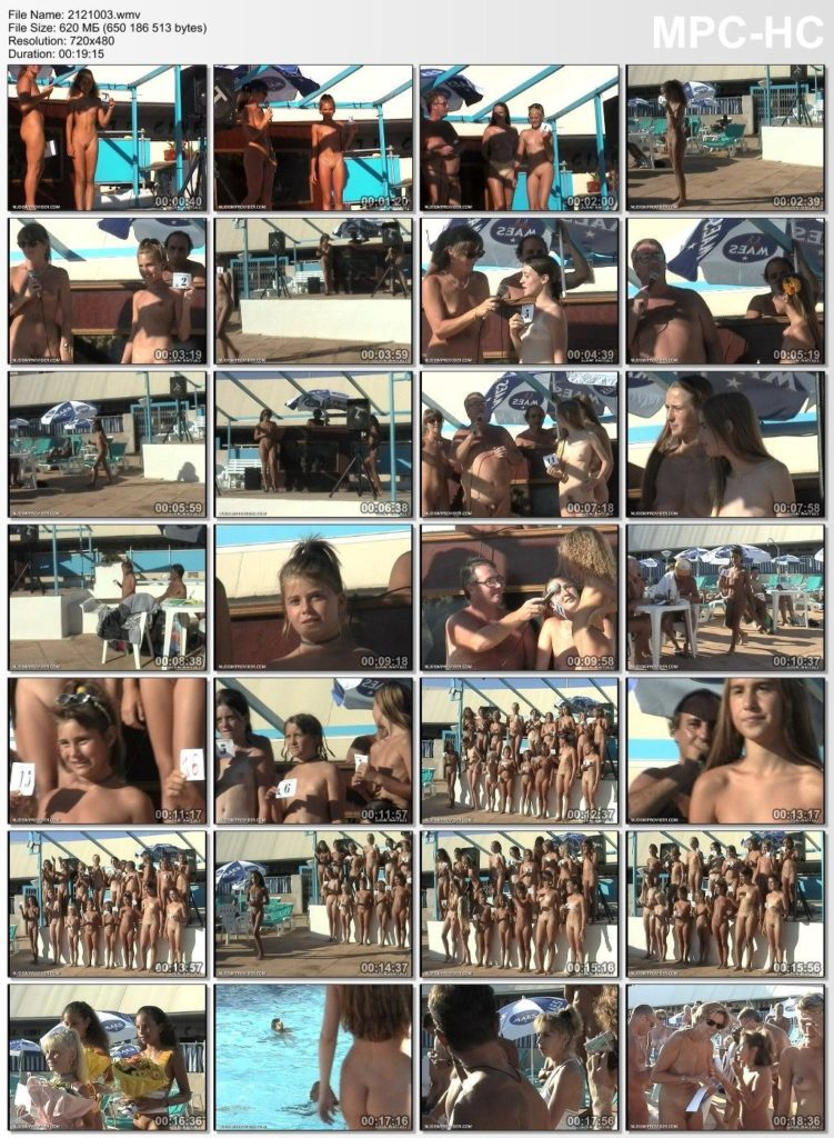 Nudist beauty contest - Junior Miss Pageant France 2