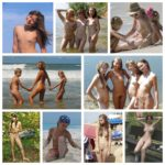 Young nudists on vacation - retro collection of naturist photos