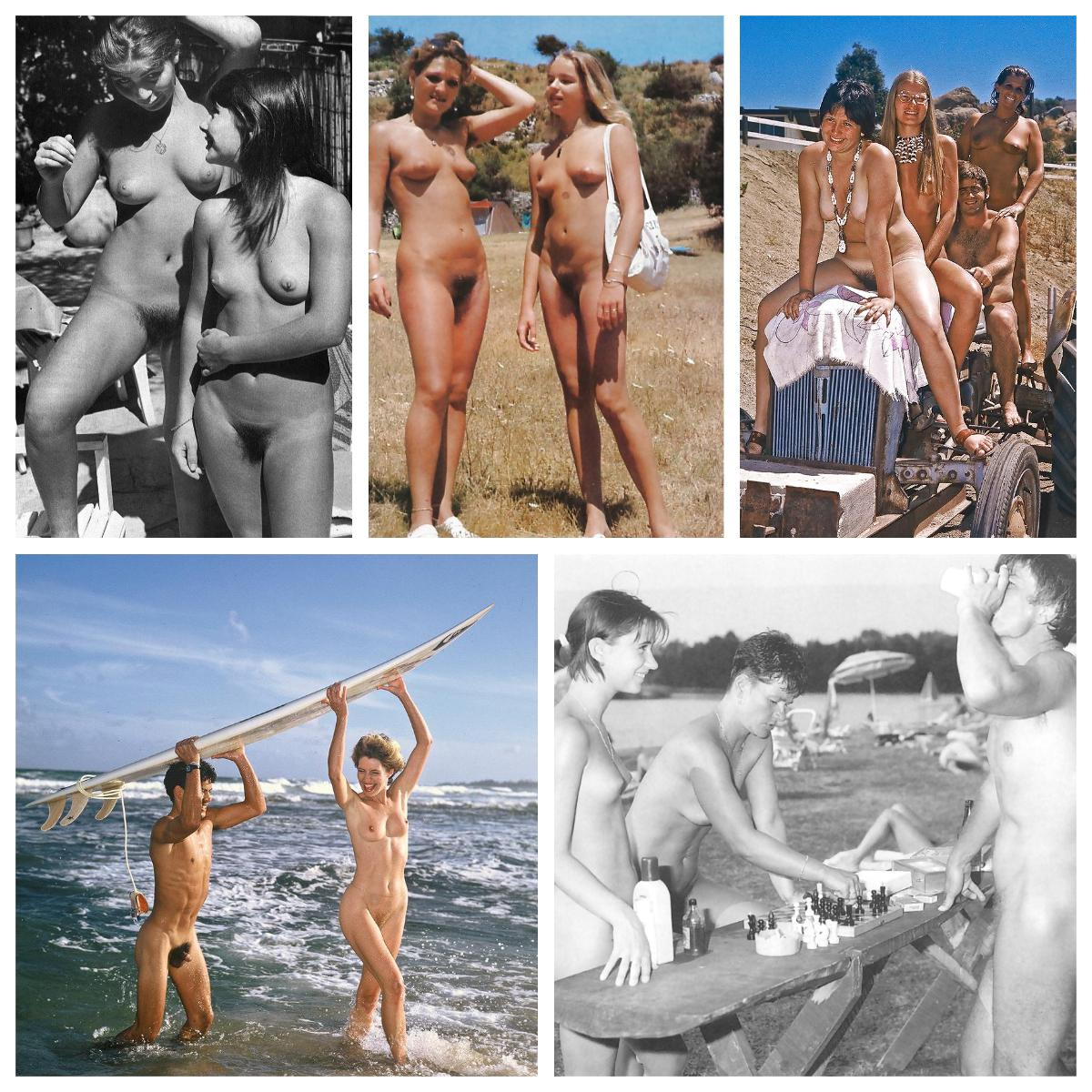 Vintage collection young nudists photos