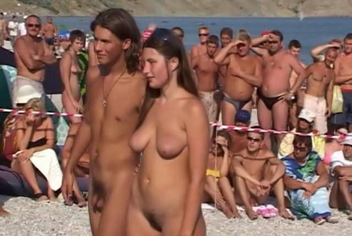 Nudist beaches in Crimea. Dance Competition in Koktebel